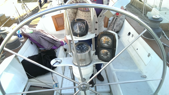 The old Yacht Specialties pedestal and instrument gauges