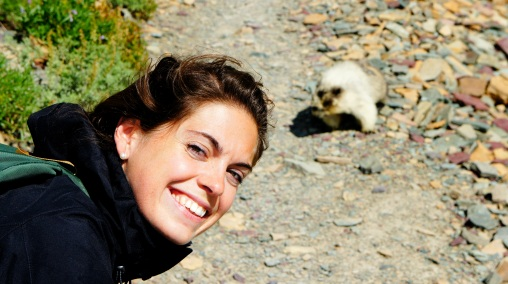Check out that marmot behind me.