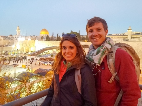 Temple Mount is behind us, Jerusalem