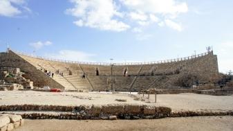 This theatre faces the Mediterranean Sea