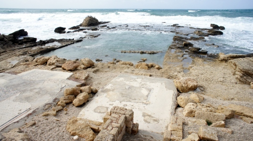 Herod's personal sea-side pool that was filled with warmed fresh water brought in from inland springs. Cush, right?