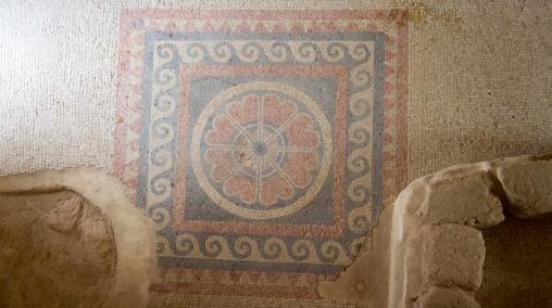 Ornate tile at Masada