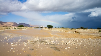 Flash Floods are quite common after a rain storm.
