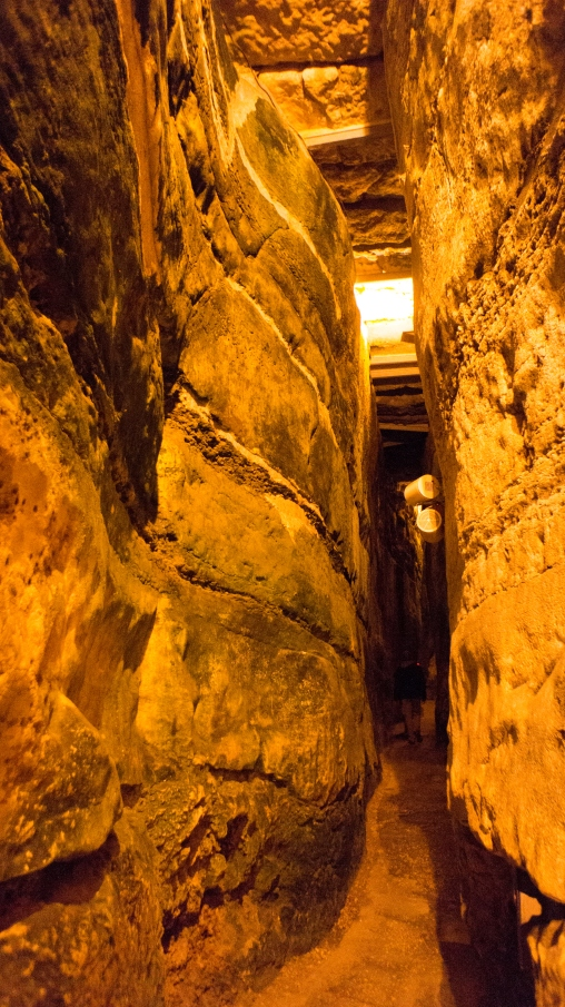 Tunnels underneath the Western Wall.